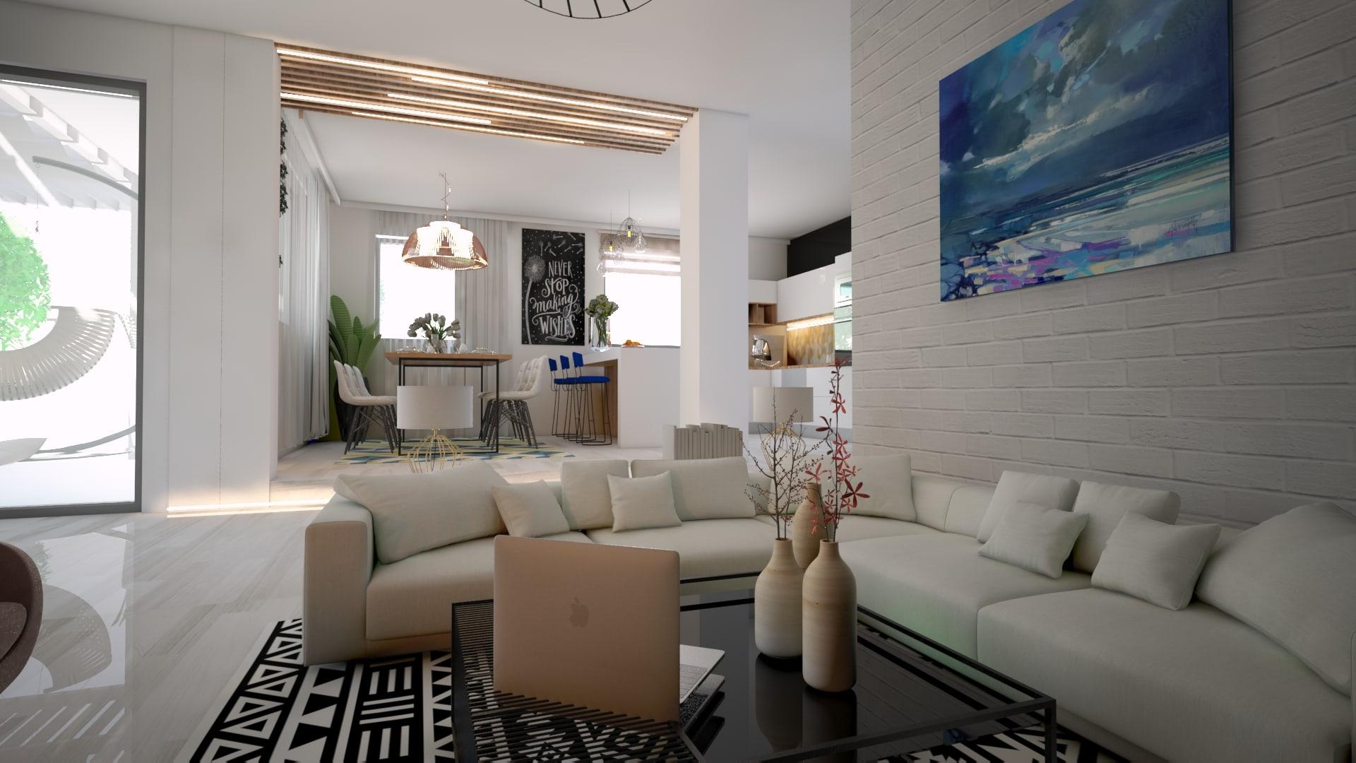 amenajare interioara living room modern
