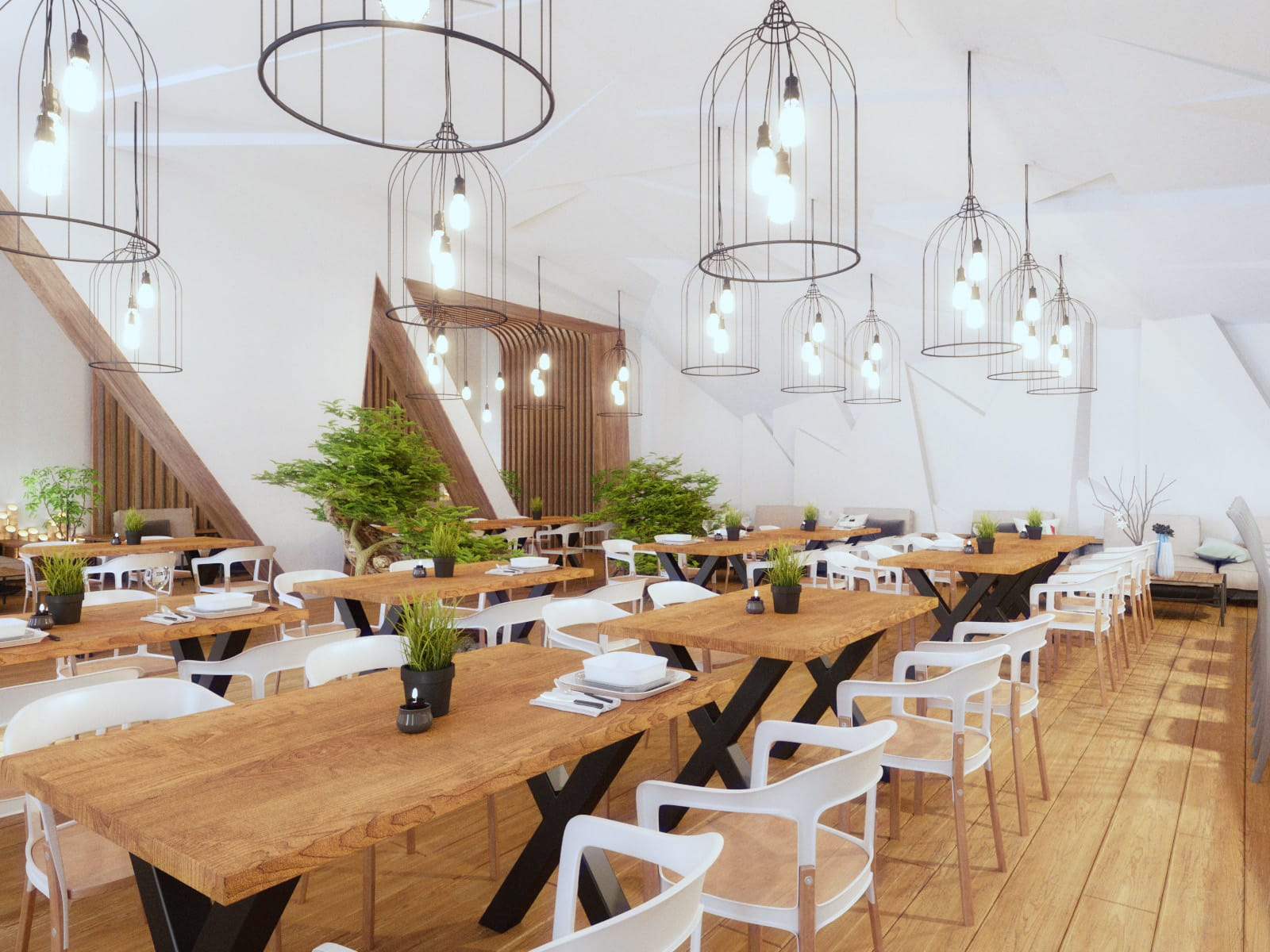 Amenajare interioară restaurant