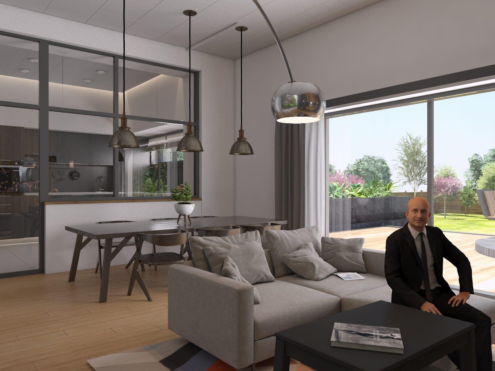 Casă modernă, arhitectură și design interior