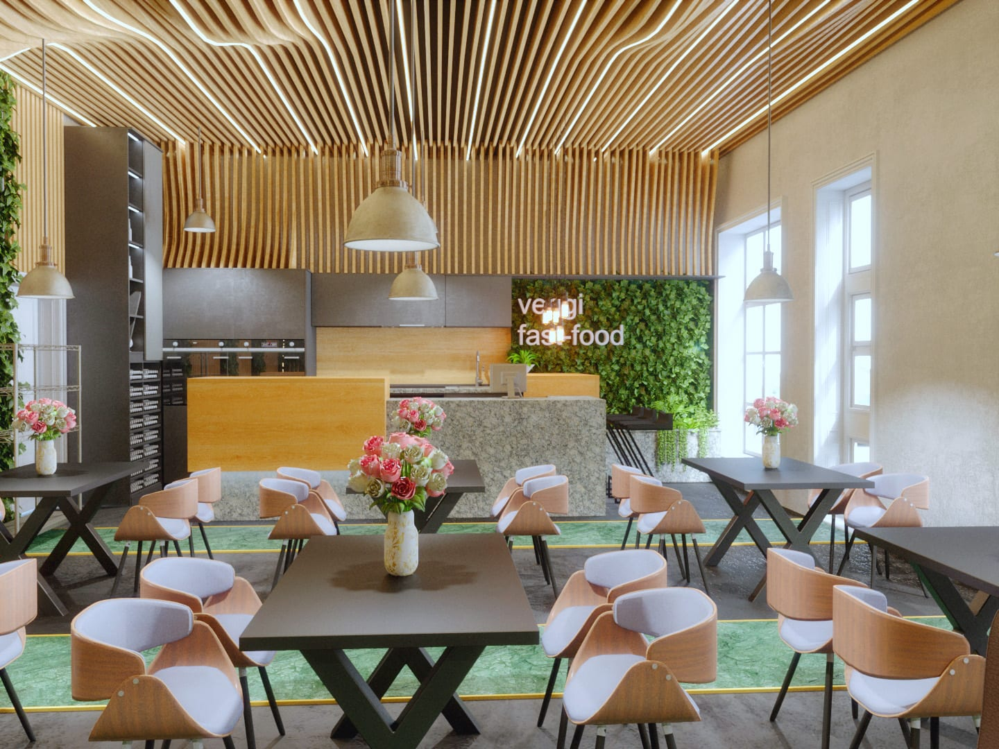 Fast food - design interior
