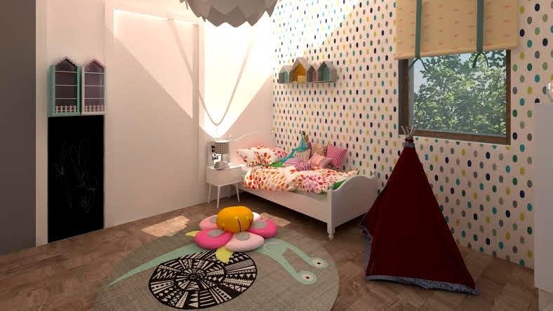 Design interior camera pentru copii (fete)